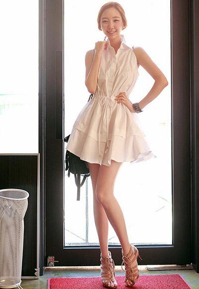 Sơ mi dạng váy lãng mạn ngày thu
