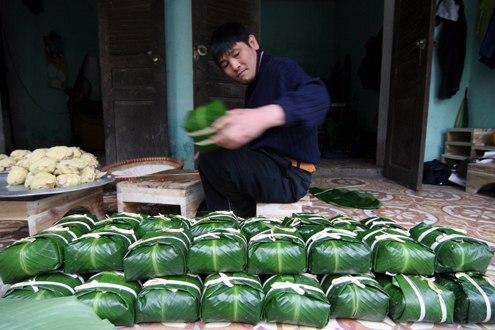 Bánh chưng là một trong những mặt hàng được xuất khẩu nhiều vào dịp Tết.
