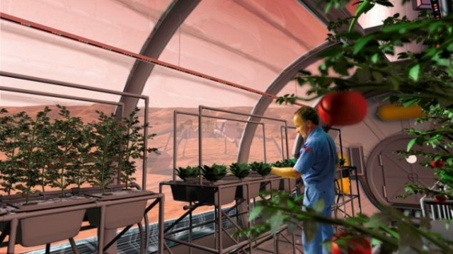 Mô hình trồng các loại thực vật trên ISS