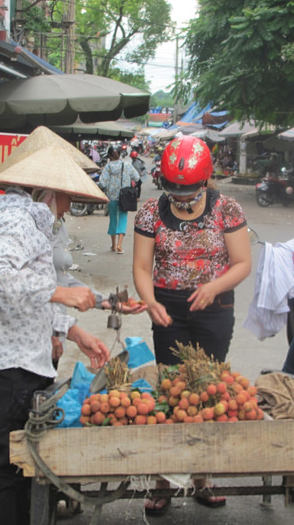 Vải ngoại bán ở Lạng Sơn